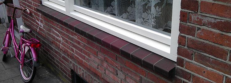 Een voorbeeld van een raamdorpelelement